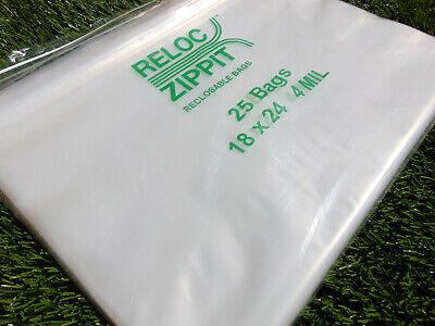 Jumbo Ziplock Bags 18x24 Clear 4mil 25pcs Reclosable Zip Lock Large Bag 18x24