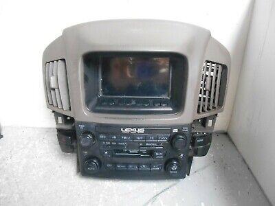 1999-2003 LEXUS RX 300 RADIO NAVIGATION CLIMATE CONTROL VENT BEZEL (P6247)