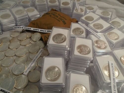 ESTATE LOT RARE BU MORGAN DOLLARS-CC,S,P AND D MINTS ,SILVER, 1878-1904 COINS
