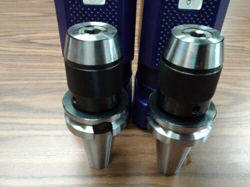 """2 BT40 Ball Bearing Keyless Drill Chucks 1/2"""" Integral design #DCK-BT40-12"""