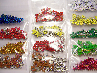 50 Eyelet Embellishments for Scrapbooks & Paper Crafts ~ Select from 13 Designs - Eyelets For Paper