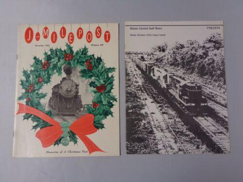 Lot of 2 vintage Railroad news 1965 Milepost Christmas and 1974 Illinois Gulf