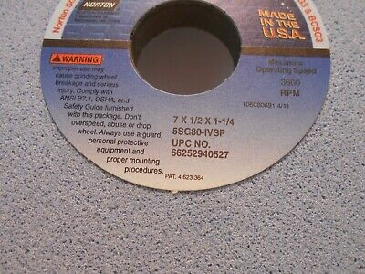 "1 new NORTON ABRASIVES 14/"" x .350/"" x 5/"" SG Plus 3SGP100-I10VHB Grinding Wheel"