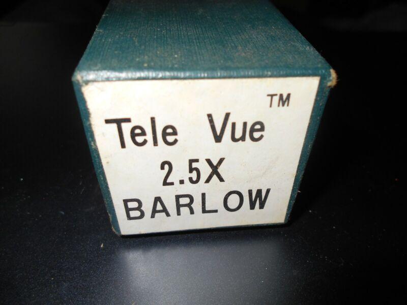Tele Vue 2.5X telescope eyepiece Televue Barlow New in original box Japan