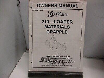 Koyker 210 Loader Owners Manual