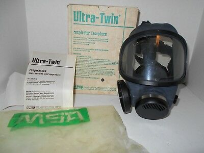Msa Safety 480259 Ultra-twin Silicone Full-face Piece Respirator Med. Blk Read