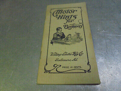 Vintage 1906 Voltamp Electric Mfg. Co. booklet Motor Hints for Beginners