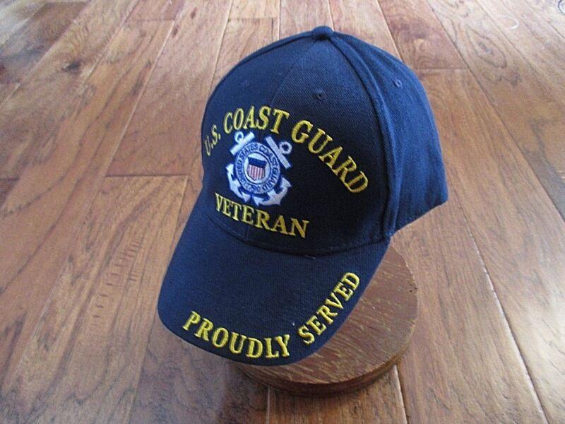 100/% Cotton Military Bucket Cap Hat USCG VETERAN COAST GUARD VETERAN