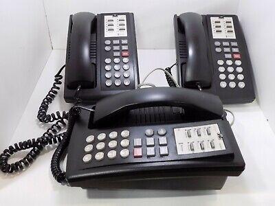 Three 3 Avaya Partner 6 Multi-line Phones With Bases - Untested