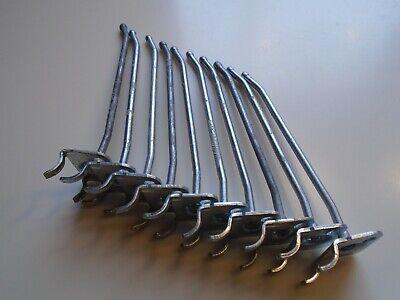 Ten Peg Board Hooks Hangers 18 Inch Gauge 4 Inches Long