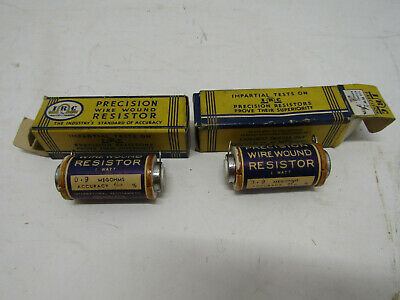 2 Nib Old Precision Resistor Wire Wound New Old Stock