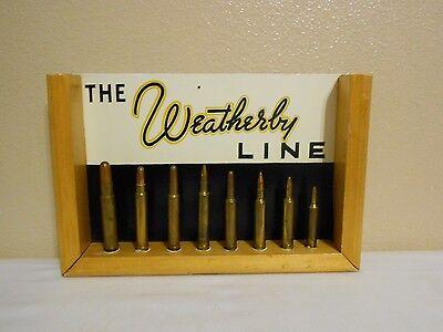 Vintage The Weatherby Line Advertising Bullet Display