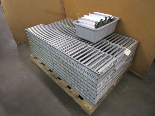 "UNEX SPAN-TRACK 59.5""X12"" ALUMINUM CARTON BOX GRAVITY FLOW CONVEYOR ""LOT OF 25"""
