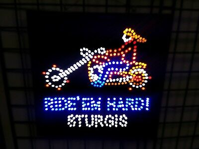 Ultra Bright LED Light Neon Color Animate Motion with RIDE ' EW HARD! STURGIS  for sale  Shipping to India
