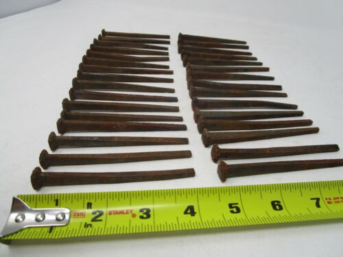 31 Antique Square Nails 4 inches long