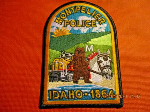 Collectible Idaho Police Patch,Montpelier,New