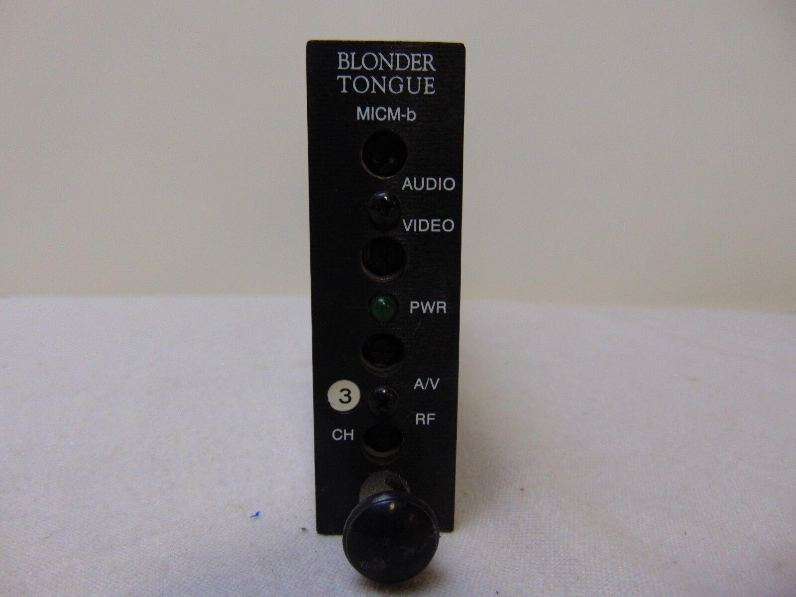 MANY CHANNELS FREE SHIPPING Blonder Tongue BAVM-Z Audio Video Modulator