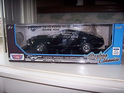 Ford   1970  Mustang Boss 429  brand  new- sealed factory box  black finish