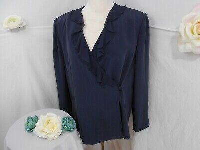 Talbot's(Pure Silk) Formal Cover Up~Navy -
