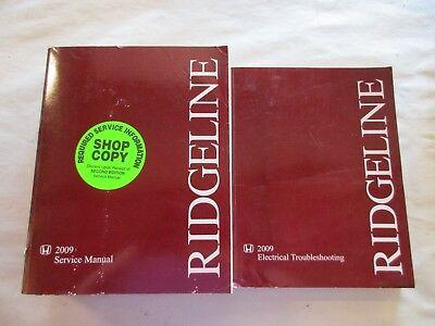 2009 HONDA RIDGELINE SERVICE SHOP REPAIR MANUAL SET W ELECTRICAL TROUBLESHOOTING