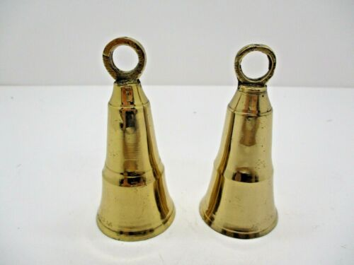 Two Small Cone Shaped Brass Bells