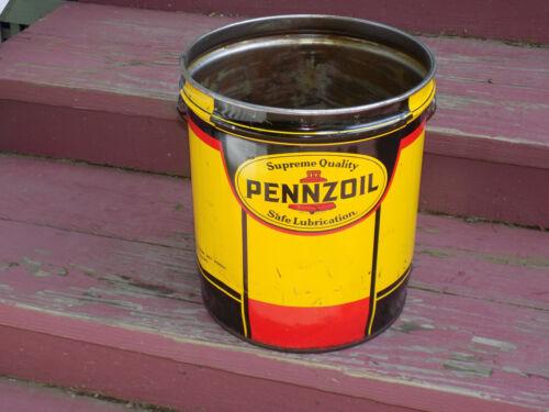 Pennzoil Grease Bucket Empty 5 Gallon Can
