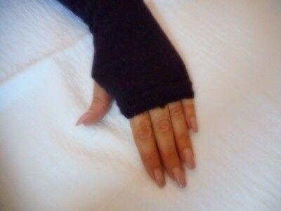 Handschuhe One Size Fingerlos Schwarz Lila - Lange Lila Handschuhe