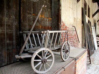 Antiker Leiterwagen Bollerwagen Bauer Scheune Kutsche Kinderwagen 4 Holz Urig