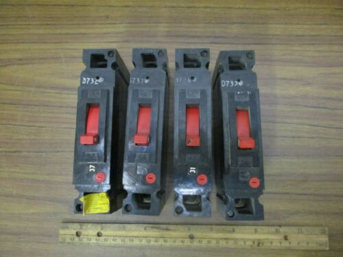 *Four* General Electric Circuit Breakers THED113020 (277V.AC 20A 125VDC) RED