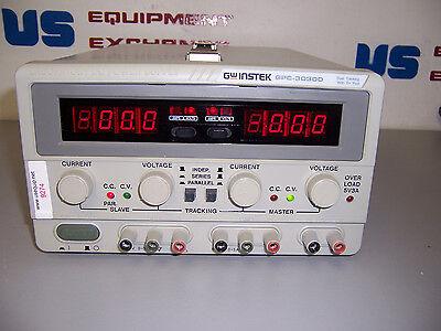 9274 Gw Instek Gps-3030d 3 Channel Lab Dc Power Supply 30 Volt 3 Amp