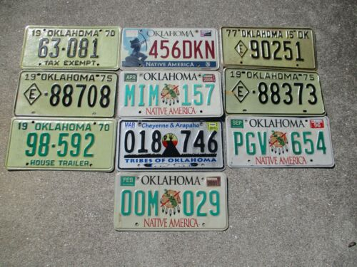 10 Oklahoma license plate lot for collecting or decorating man cave # 2