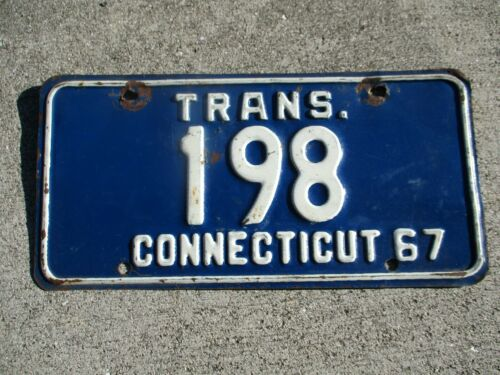 Connecticut 1967 Trans. license plate  #   198