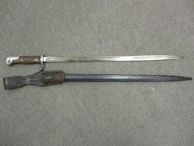 Imperial German WWI Model 1898N/A Bayonet Made by W.K. C. with Metal Scabbard