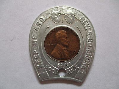 1955 Williamsburg VA Virginia Good Luck Penny encased cent