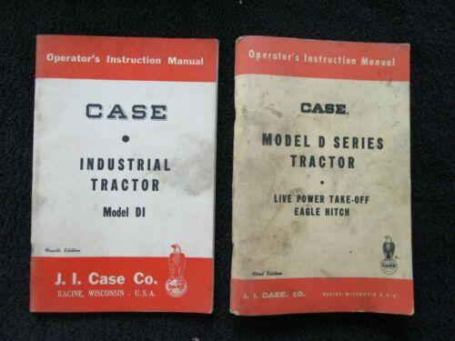 2 Original CASE Operator Manuals, Model D Series & Model DI Tractors