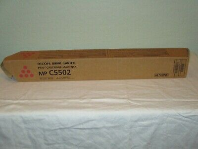 Genuine Ricoh Savin Lanier Mp C5502 Magenta Toner New 841753