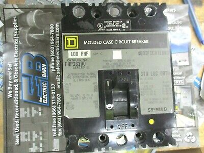 Square D Fhp36100 100 Amp 600 Volt 3 Pole Circuit Breaker- Warranty