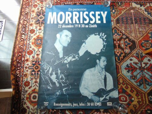 """Morrissey Your Arsenal French Billboard Hoarding Paris Gig Poster. 46"""" x 31""""."""