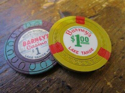 casino chip nevada 2 barneys lake tahoe nv