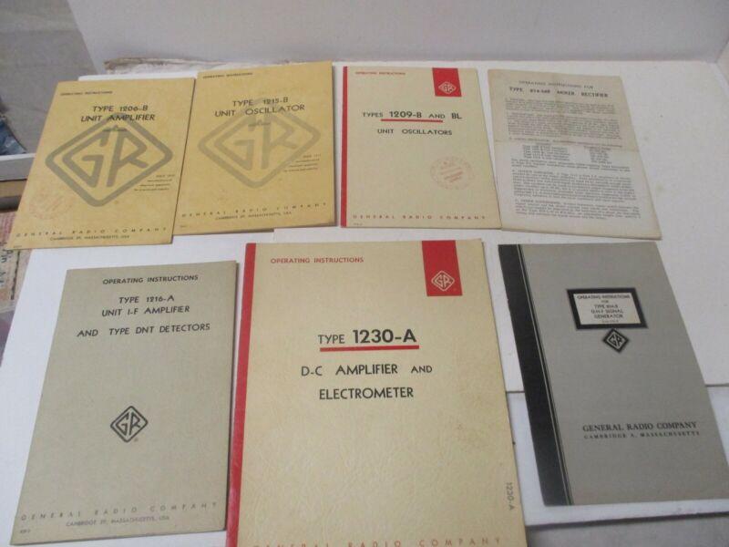 General Radio Manual Lot See Titles in Photos