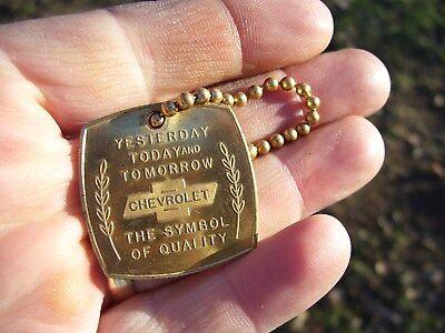 Vintage 1960s nos original GM CHEVROLET dealer promo brass auto key rare holder