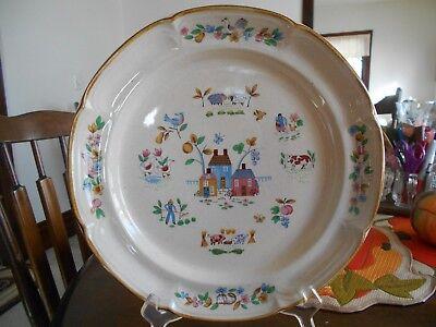 """Heartland Platter Chop Plate 12"""" International China SY7774 Stoneware Ivory Pink"""