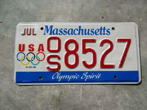 Massachusetts  USA Olympic Spirit license plate   #  8527