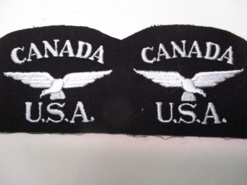Pair of two uncut Canada U.S.A. Shoulder Patches
