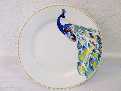 Ciroa Peacock Blue Yellow Desert Appetizer Bread Plates Set of 4 or 8 ()