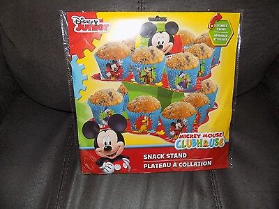 Disney's Mickey Mouse Clubhouse Disposable Cupcake Snack Birthday Stand NEW  - Mickey Mouse Cupcake Stand