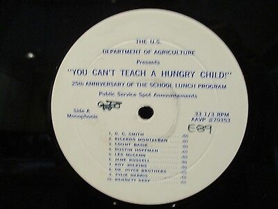 "12"" PSA You Can't TEach A Hungry Child LP Count Basie/Dustin Hoffman/Jane Russel"