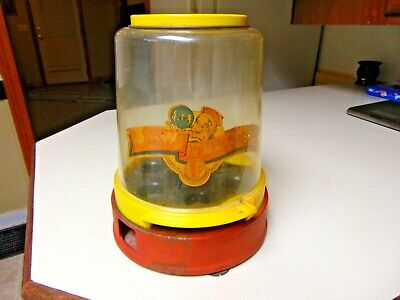 Vintage 1950s JAW TEASERS Gumball Vending Machine 1 Cent Counter Top Works