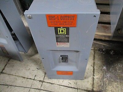 Square D Enclosed Circuit Breaker Fal22100 100a 240v Missing Cover Screws Used