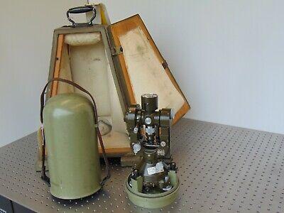 Wild Heerbrugg T2 Theodolite Transom W Bullett Case Transport Case Military